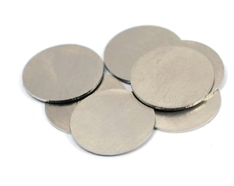"10 Pcs.  Stainless Steel  16 mm (5/8"" )   Stamping Blanks No Hole 20 Gauge ,0.8 mm Thick"