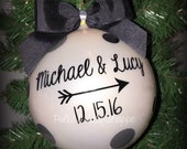 Our First Christmas Ornament, Wedding Ornament, Couple Christmas Gifts, Newly Wed Ornament,