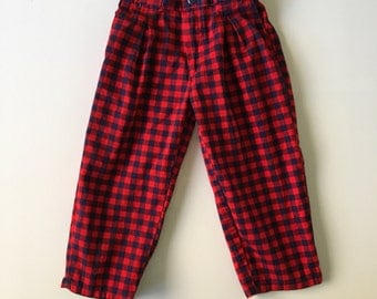 Vintage Red and Blue Gingham Pants