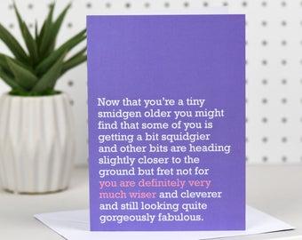Definitely Very Much Wiser - Birthday Card