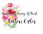 Custom Reserved Order For- beth3111