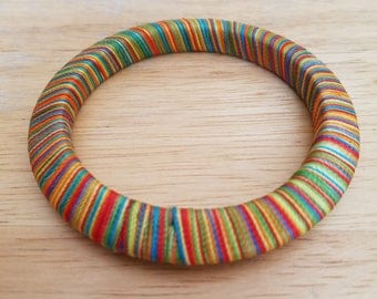 Beautiful Vintage Colorful Thread Bangle Bracelet