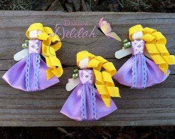 Rapunzel Ribbon Hair Clip, Tangled Hair Clip, Princess Hair Clip