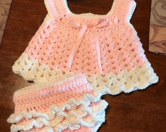 Girls Sundress and Diaper Cover