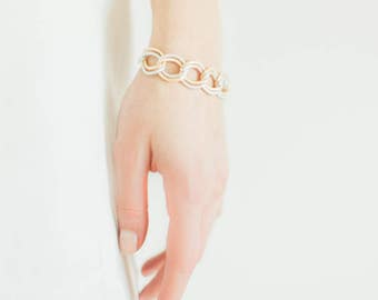 Silver and Gold Thick Chain Bracelet