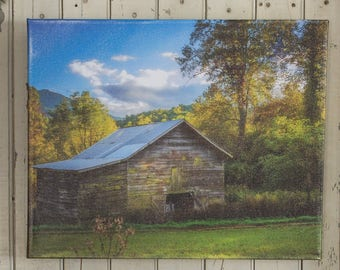 Rustic Barn art canvas from original photo