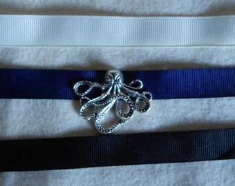 Sea Creature Ribbon Choker Necklace