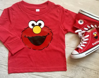 Elmo, Cookie Monster, Big Bird, Abby, Sesame Street shirt birthday boy or girl outfit