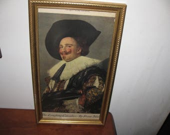 """THE LAUGHING CAVALIER From February 1924 Ladies Home Journal In Goldtone Wood Frame 8"""" x 14"""""""