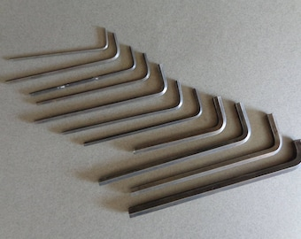 Vintage Unbrako Allen Wrench 3/32 up to 5/16 of an inch sizes 11 wrenches long and short