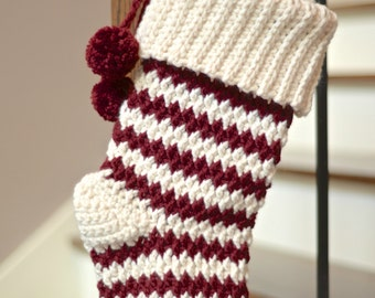 Crochet Pattern: Jolly Textures Christmas Stockings