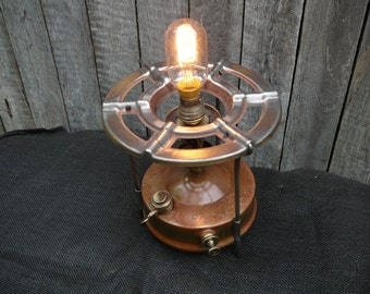 Antique Camping Stove Industrial Table Lamp