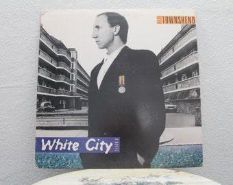 "Set of 3 Pete Townshend albums - ""White City, Chinese Eyes, Rough Mix"" vinyl records"