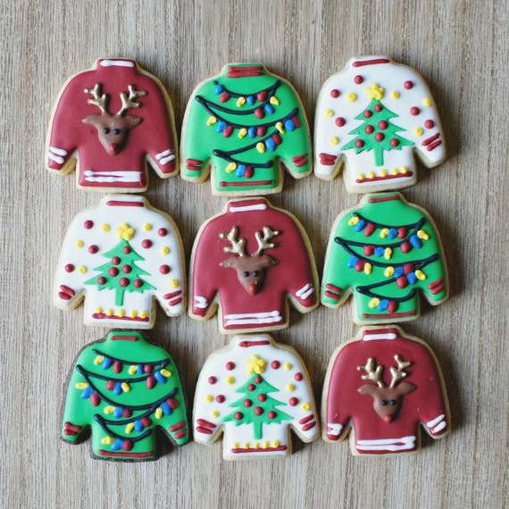 Adorable Ugly Sweater Cookies