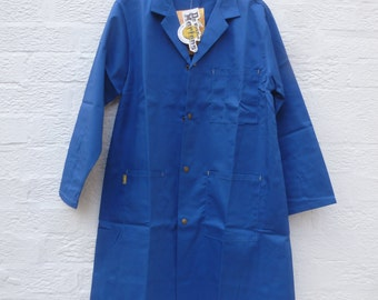 Vintage mens jacket blue coat work clothing 1990s clothes chore jacket Dr Martens overcoat mens gift vintage clothing mens work fashion coat