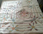 Small cotton kantha quilt hand stitched