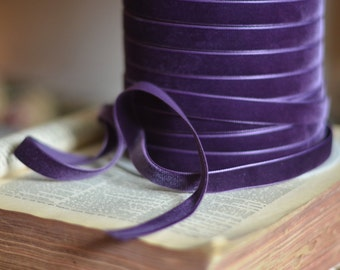 purple plum eggplant velvet ribbon