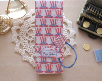 dollhouse  fabric bolt sewing patriotic USA  12th scale  miniature