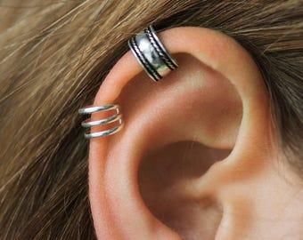 Ear Cuff,  Ear Cuff Non Piercing, Cartilage Earring, Sterling Silver Ear Cuff, Ear Cuff non Pierced, Body Jewelry, Piercing, Ear Wrap