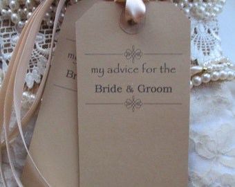 My Advice for the Bride and Groom Wishes Tags -  Wishing Tree Kraft Luggage Label Wedding Favor- Advice Wedding Tags