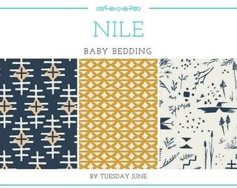 Baby Boy Bedding - Navy - Baby Bedding - Diamond