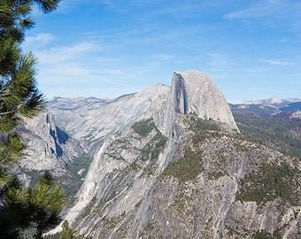 """Yosemite, Half Dome, Nature Photography, """"A Treetop's View Of Half Dome"""""""