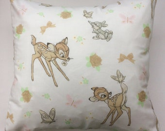 Bambi Vintage Disney Fabric Cushion -  Handmade by Alien Couture