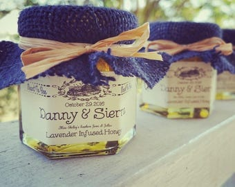 Honey Pot Favors - Meant to Bee Favors - Bride to Bee - Mommy to Bee - Sample Honey Jar Favor - Single Jar Sample - Rustic Honey Favors