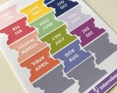 A37 - Month Tabs - Planner Stickers