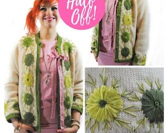 Green Floral Cardigan