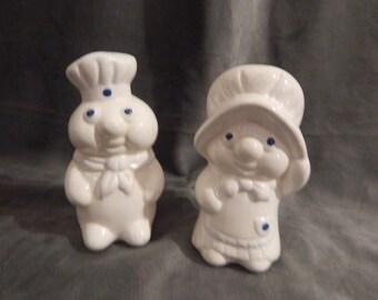 Vintage Pillsbury Doughboy & Poppie Salt and Pepper Shakers