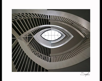 The Contemporary Art Museum Staircase Fine Art Photograph, Wall Art, Home Decor, Chicago Image, Gift, Staircase Print, Building Photograph