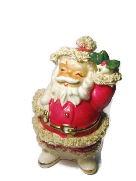 Vintage napco santa claus piggy bank porcelain ceramic