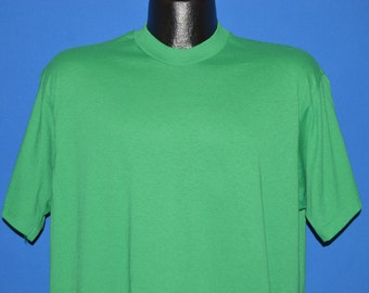 80s Screen Stars Green Blank t-shirt Extra Large