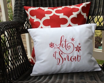 Let it Snow Pillow cover - Christmas Decor - Decorative Pillow - Holiday Decor - Holiday Pillow - Christmas Pillow