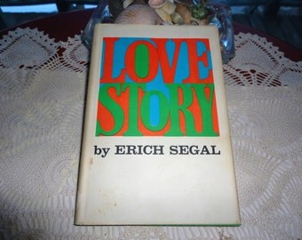 Love Story Book By Erich Segal Vintage Hard Cover Romantic Drama Adult Novel Harper and Row Publishers