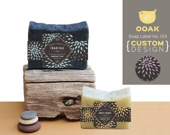 OOAK Custom Design - soap band labels No.013. Soap package, gift labels. Make your works standing out.