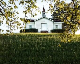 Chapel Hill Methodist Church Fine Art Photography, Chapel Hill Historical Church, White Country Church