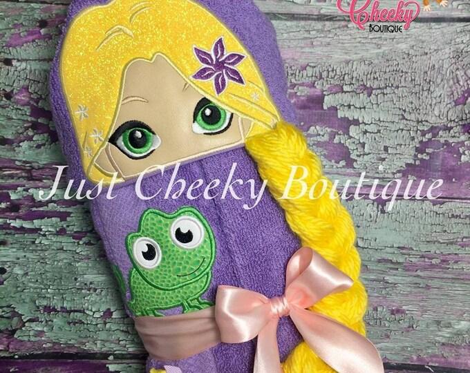 3D Long Haired Princess Inspired Hooded Towel - Rapunzel  - Disney Birthday - Disney Princess