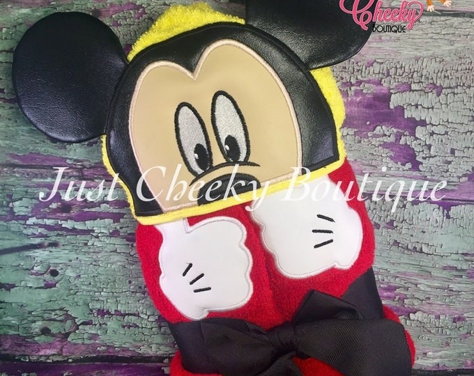 3D Boy Mouse Inspired Hooded Towel - Mickey - Disney Birthday