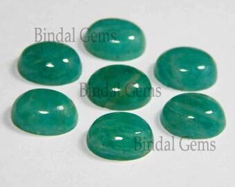 25 Pieces Wonderful Lot Natural Amazonite Oval Shape Smooth Polished Gemstone Cabochon