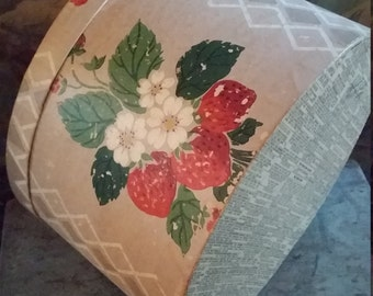 Vintage Handmade Antique Wallpaper Box