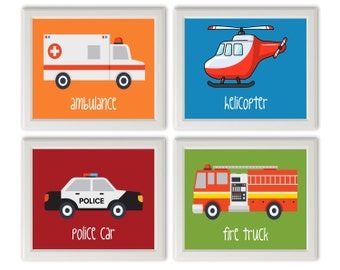 fire truck ambulance etsy. Black Bedroom Furniture Sets. Home Design Ideas