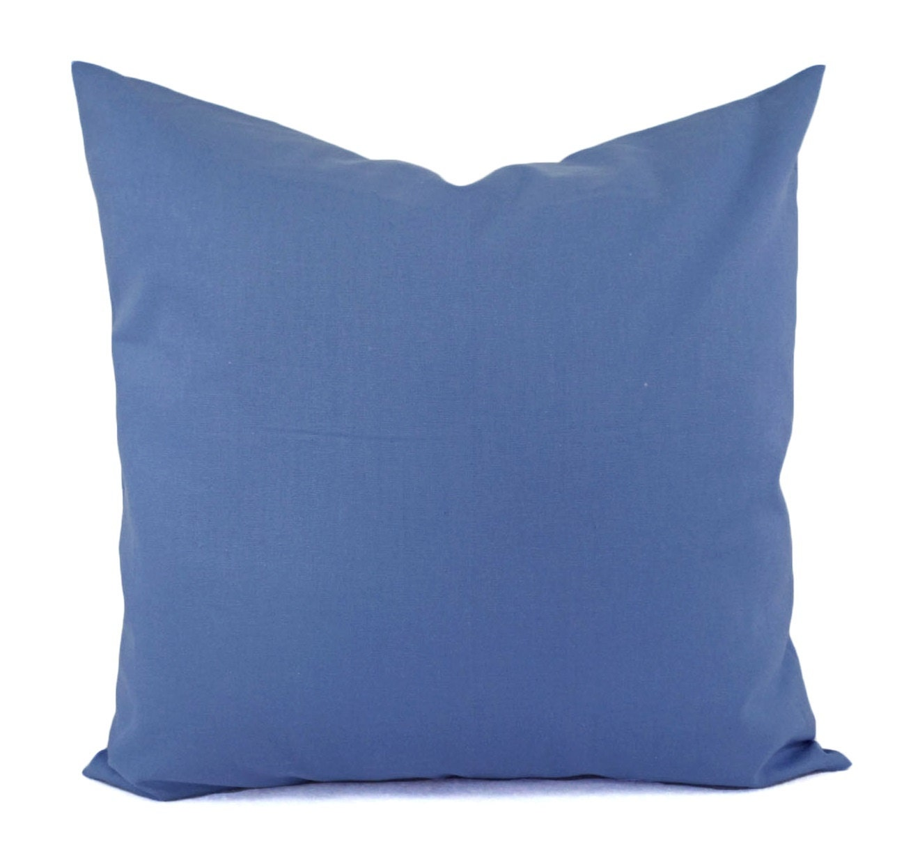 Solid Medium Blue Decorative Pillow Cover Blue Pillow Cover
