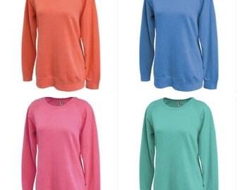 Monogrammed Women's Long, Comfy Sweatshirt