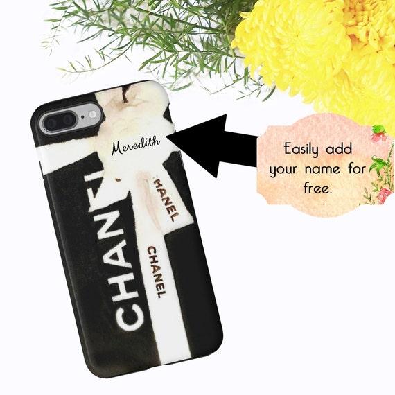 Black Chanel iPhone Case Chanel Box Watercolor Phone Case