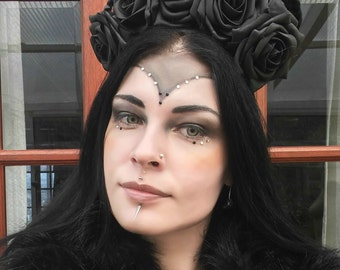 Dark Witch Headpiece / Gothic Headpiece Head facsinator