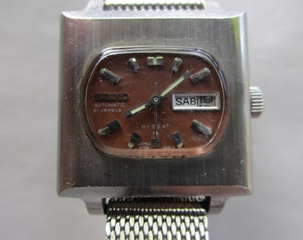 1970s Seiko Automatic Stainless Steel 42mm Self Winding Mechanical Watch Date