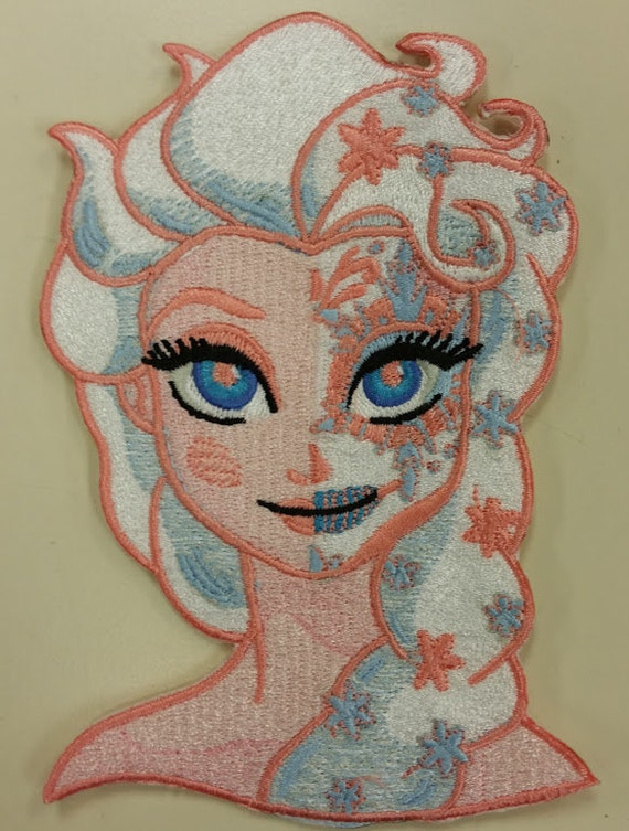 Princess Embroidered Patch with Day of Dead theme,  Strange Princess Patch, Iron On Princess Patch