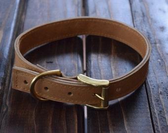 XL Dog Collar/ XL Leather dog collar/ XL Collar/ Dog Collar/ Handmade Leather dog collar/ Handmade collar/ Leather Dog collar